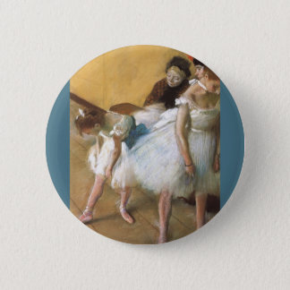 Dance Examination by Edgar Degas, Vintage Ballet Pinback Button