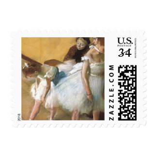 Dance Examination by Edgar Degas, Vintage Ballet Stamp