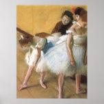 Dance Examination by Edgar Degas, Vintage Ballet Poster