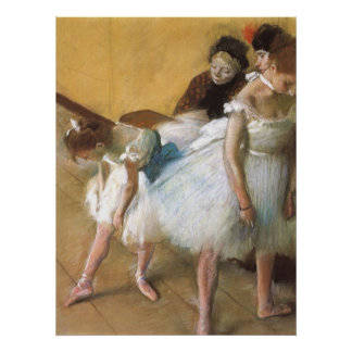 Dance Examination by Edgar Degas, Vintage Ballet Poster