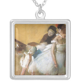 Dance Examination by Edgar Degas, Vintage Ballet Silver Plated Necklace