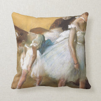 Dance Examination by Edgar Degas, Vintage Ballet Throw Pillow