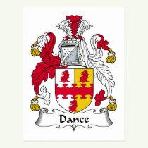 Dance Family Crest Postcard