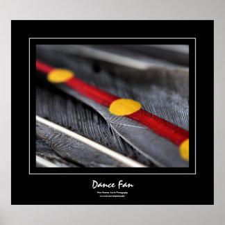 Dance Fan Black Border Poster
