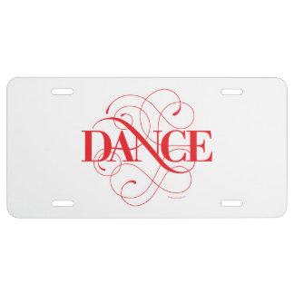 Dance Flourish License Plate