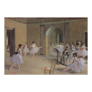 Dance Foyer at the Opera by Degas, Vintage Ballet Poster