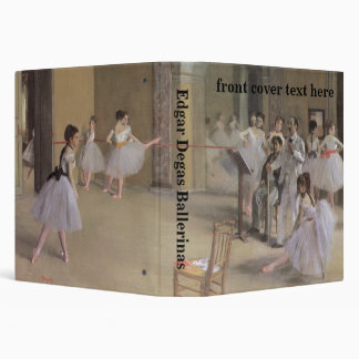Dance Foyer at the Opera by Edgar Degas 3 Ring Binder