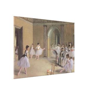 Dance Foyer at the Opera by Edgar Degas Canvas Print