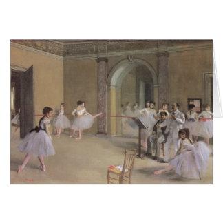 Dance Foyer at the Opera by Edgar Degas Card