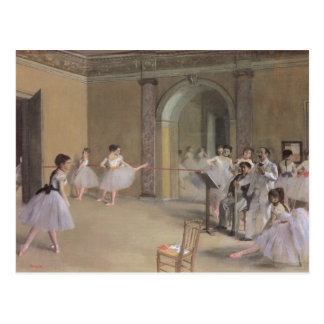 Dance Foyer at the Opera by Edgar Degas Postcard