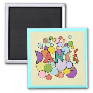 dance frig art 2 inch square magnet