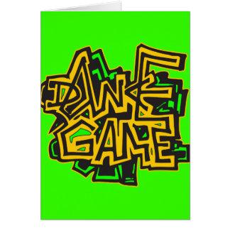 Dance Game Greeting Card