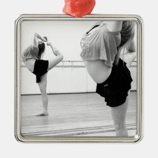dance girl metal ornament