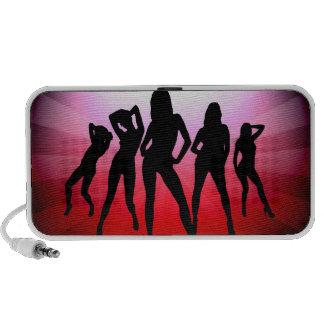 Dance girl notebook speakers