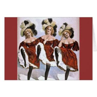 dance girls card