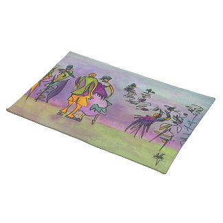 Dance gone wild...watercolor placemats. placemat