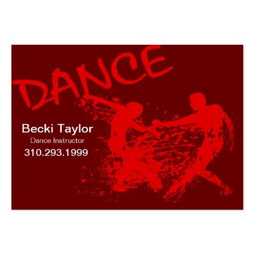 Dance grunge choreographer dancer instructor large for Dance business cards