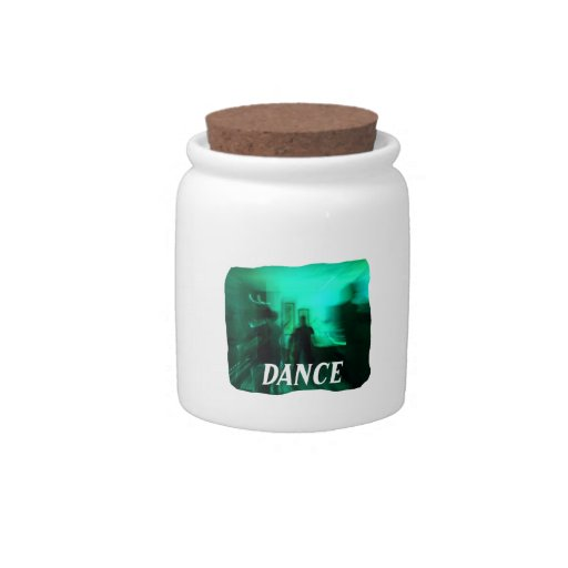 Dance guitar graphic candy jar