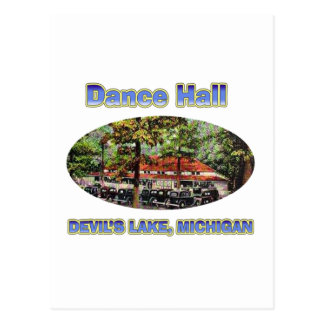 Dance Hall Devil's Lake Postcard