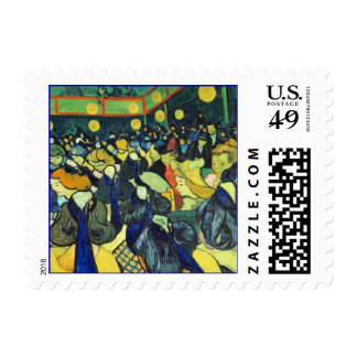 Dance Hall in Arles Postage Stamp