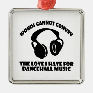 Dance hall Music designs Metal Ornament