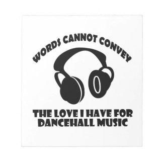 Dance hall Music designs Notepad