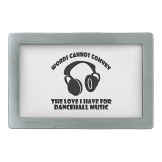 Dance hall Music designs Rectangular Belt Buckle