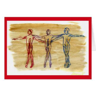 Dance Harmony (Red) Greeting Card