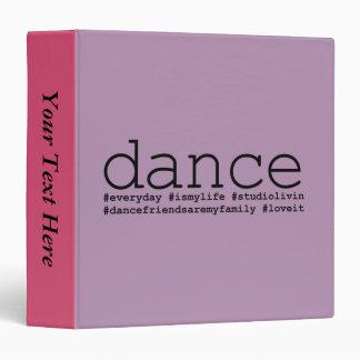 Dance Hashtags 3 Ring Binder
