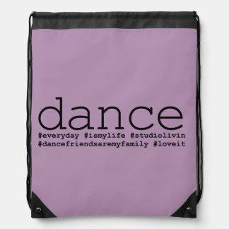 Dance Hashtags Drawstring Bag