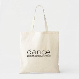 Dance Hashtags Tote Bag