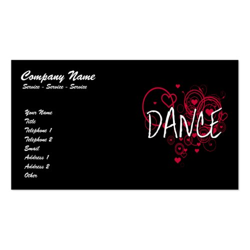 Dance Hearts Business Card