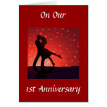 DANCE/HOLD U IN ARMS 1st ANNIVERSARY Card