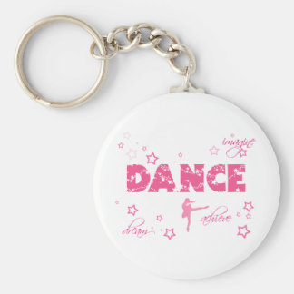 Dance Imagine Achieve Dream Basic Round Button Keychain