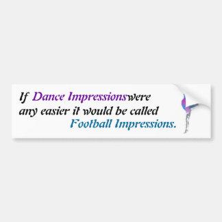 Dance Impressions...Football Bumper Sticker Car Bumper Sticker