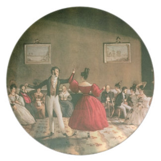 Dance in a Salon in Buenos Aires, c.1831 (w/c on p Dinner Plate