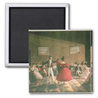 Dance in a Salon in Buenos Aires, c.1831 (w/c on p Fridge Magnet