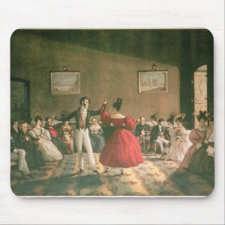 Dance in a Salon in Buenos Aires, c.1831 (w/c on p Mouse Pad