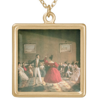 Dance in a Salon in Buenos Aires c 1831 w c on p Custom Jewelry