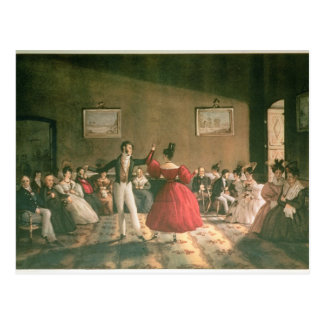 Dance in a Salon in Buenos Aires, c.1831 (w/c on p Postcard