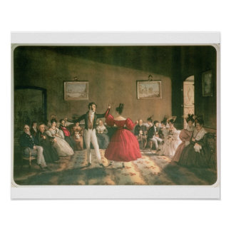 Dance in a Salon in Buenos Aires, c.1831 (w/c on p Poster