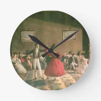 Dance in a Salon in Buenos Aires, c.1831 (w/c on p Round Clock