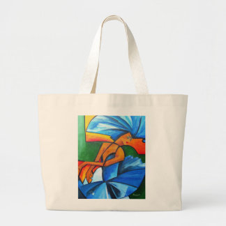 Dance in blue 2008 large tote bag