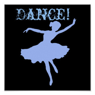 Dance in Blue Poster