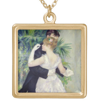 Dance in the City, 1883 Square Pendant Necklace