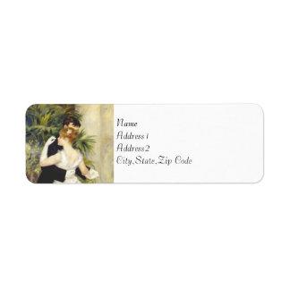 Dance in the City by Renoir Custom Return Address Label
