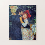 """Dance in the Country Renoir Fine Art Jigsaw Puzzle<br><div class=""""desc"""">Dance in the Country is a charming portrait painted by French Impressionism painter,  Pierre Auguste Renoir,  in 1883. The originals are life size paintings with the same people in each painting in different scenic locations.</div>"""
