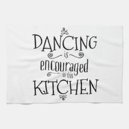 Dance in the kitchen - towel