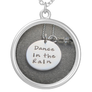 Dance in the rain#2 silver plated necklace