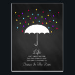 "Dance in the Rain Inspirational Postcard<br><div class=""desc"">Dance in the Rain Inspirational Postcard</div>"